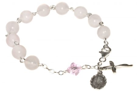Rose Quartz Gemstone Rosary Bracelet