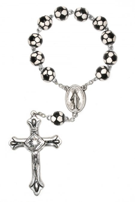 Soccer Pocket or Auto Rosary