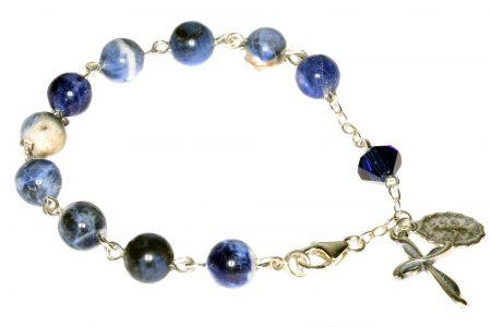 Sodalite Gemstone Rosary Bracelet