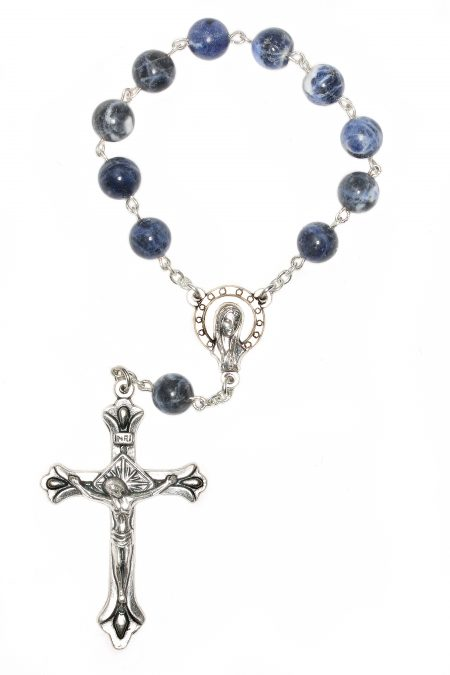 Sodalite Pocket or Auto Rosary