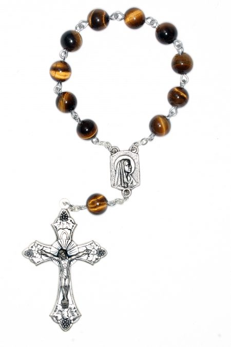 Tiger Eye Pocket or Auto Rosary