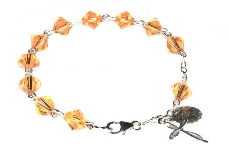 Topaz Swarovski Crystal Rosary Bracelet