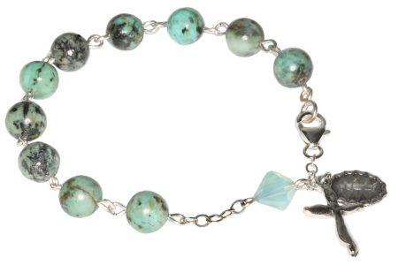 Turquoise Gemstone Rosary Bracelet