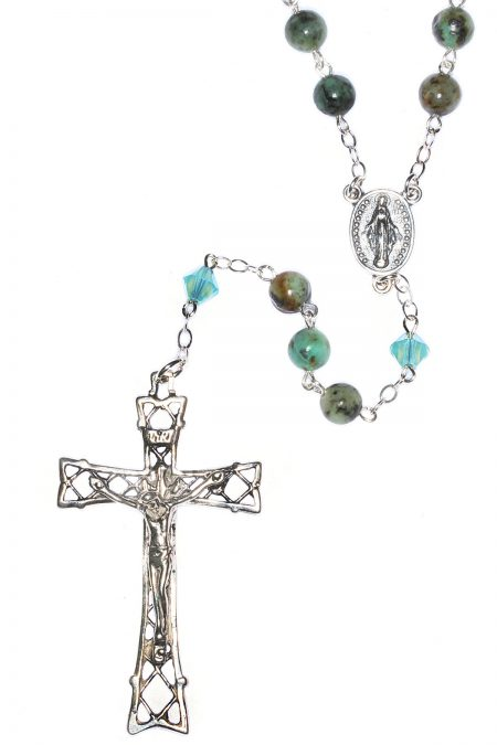 Turquoise Gemstone Sterling Silver Rosary