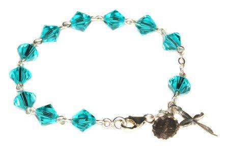 Zircon Swarovski Crystal Rosary Bracelet (December)