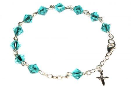 Zircon Central European Crystal Child Rosary Bracelet (December)