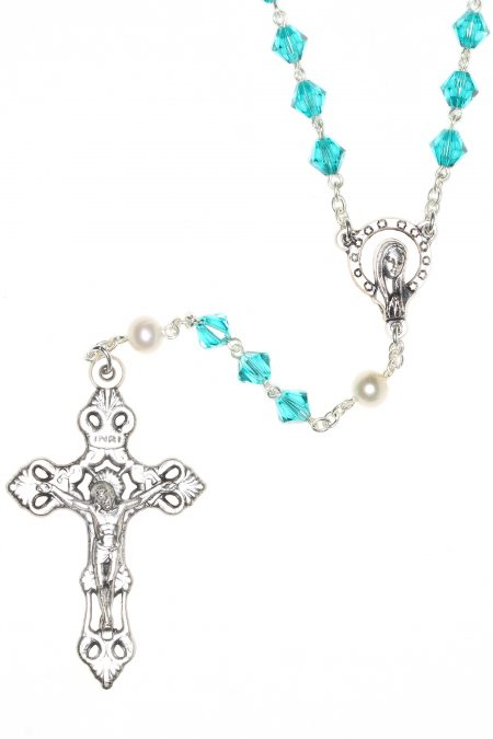 Zircon Rosary made with Central European Crystals (December)
