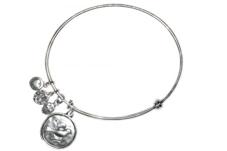 Holy Spirit Sterling Silver Bangle Bracelet