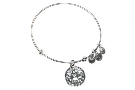 Angel Sterling Silver Bangle Bracelet