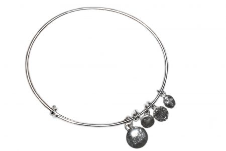 Faith Sterling Silver Bangle Bracelet