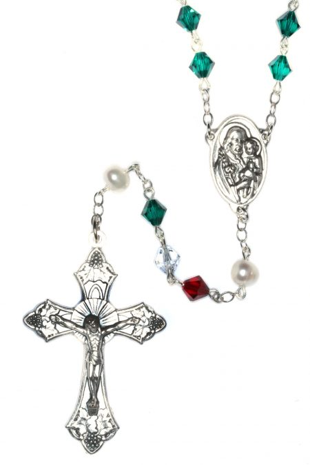 Italian Rosary made with Swarovski Crystals